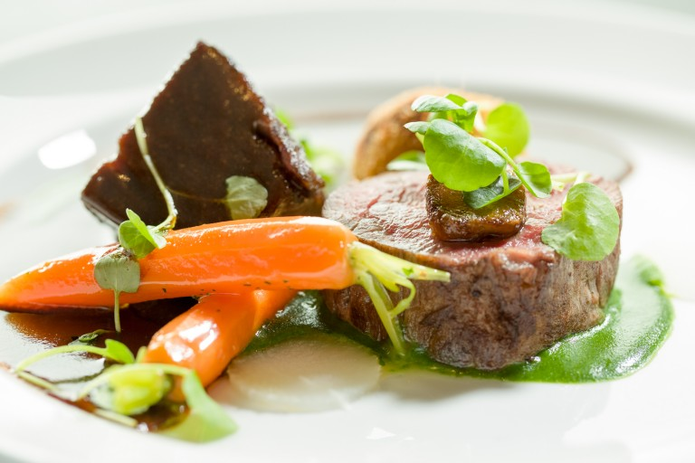 This was followed by Simon Hulstone - fillet and cheek of beef, Hospitality Action, Food Pictures